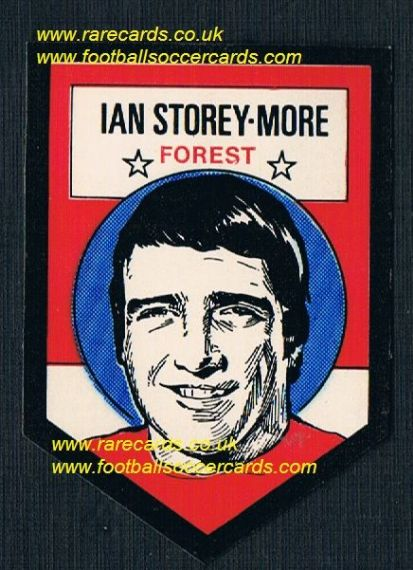 1972 BAB unused Shooting Stars Nottingham Forest Ian Storey Moore with original backing paper